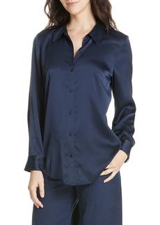 Eileen Fisher Stretch Silk Shirt (Regular & Petite)