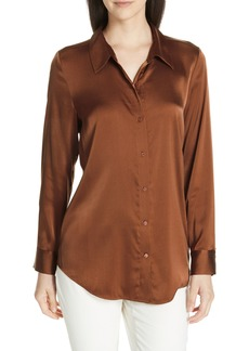 Eileen Fisher Stretch Silk Shirt (Regular & Petite)