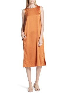 Eileen Fisher Stretch Silk Tank Dress