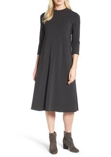 Eileen Fisher Stretch Tencel® Lyocell Midi Dress