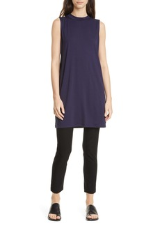 Eileen Fisher Stretch Tencel® Lyocell Shift Dress (Regular & Petite)