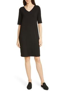 Eileen Fisher Stretch Tencel® Lyocell Shift Dress (Regular & Petite)