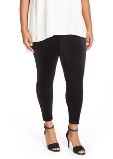 Eileen Fisher Stretch Velvet Ankle Leggings (Plus Size)