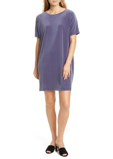 Eileen Fisher Stretch Velvet Shift Dress