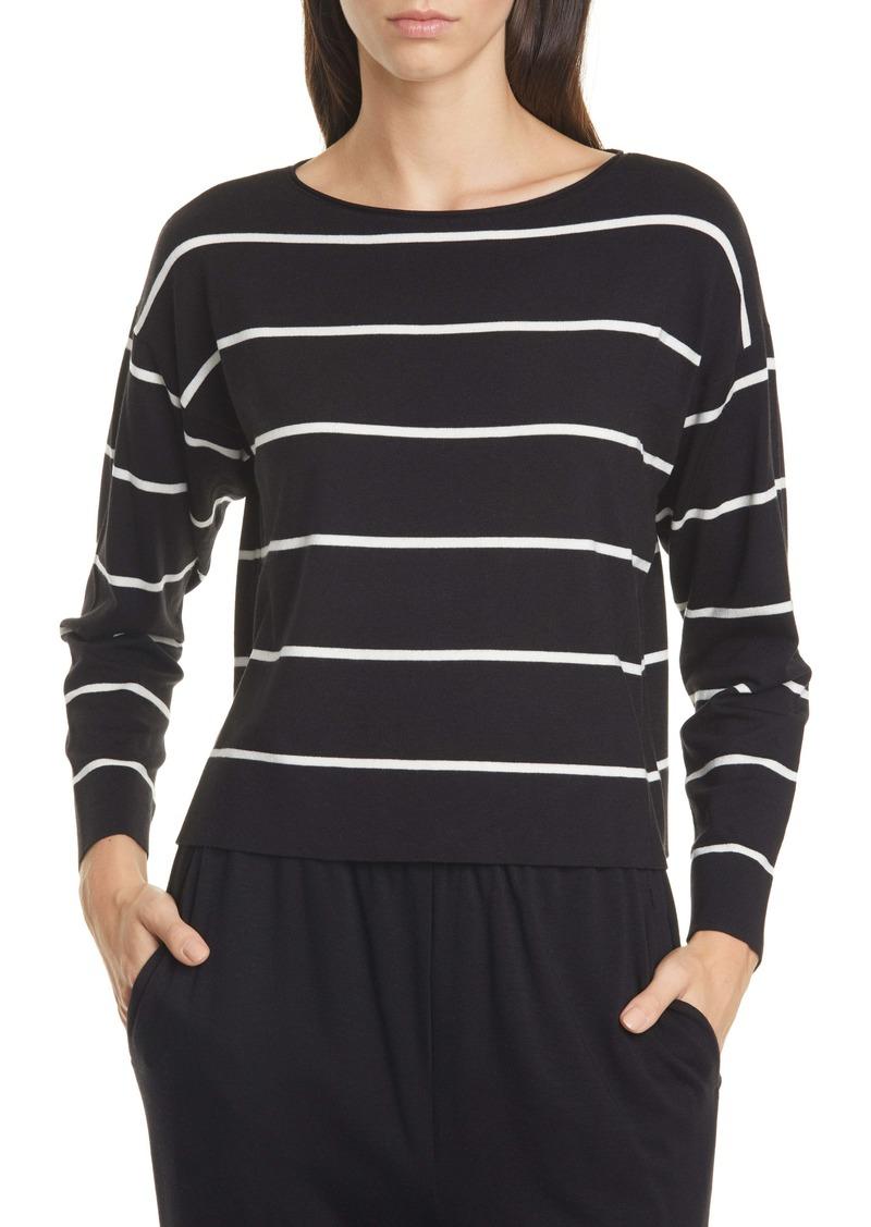 Eileen Fisher Stripe Boxy Top