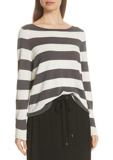 Eileen Fisher Stripe Cotton & Hemp Sweater