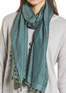 Eileen Fisher Stripe Cotton & Silk Scarf