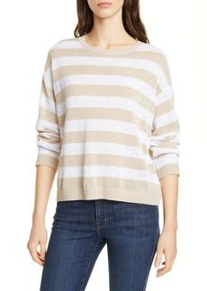 Eileen Fisher Stripe Linen Blend Sweater