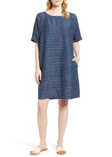 Eileen Fisher Stripe Linen Tunic Dress