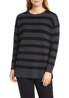 Eileen Fisher Stripe Merino Wool Sweater
