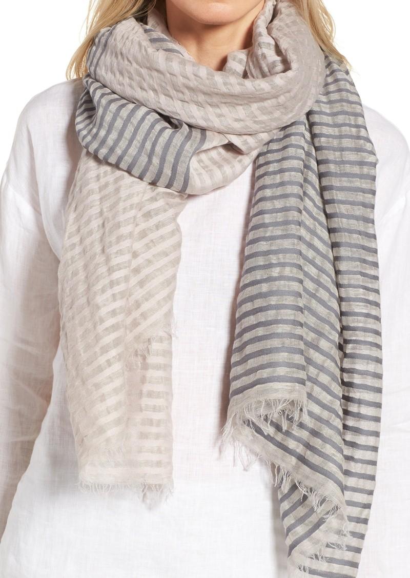 e4309e52aab Stripe Organic Cotton & Linen Scarf