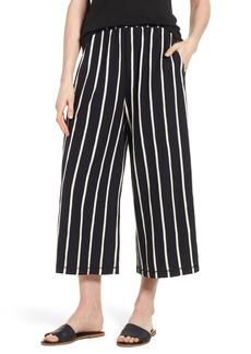 Eileen Fisher Stripe Organic Cotton Capri Pants (Regular & Petite)