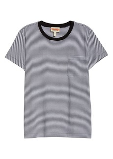 Eileen Fisher Stripe Organic Cotton Jersey Top (Unisex) (Nordstrom Exclusive)