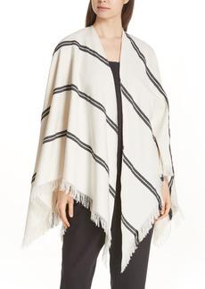 Eileen Fisher Stripe Organic Cotton Poncho