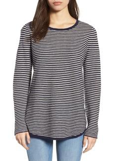 Eileen Fisher Stripe Organic Linen & Cotton Sweater (Regular & Petite)