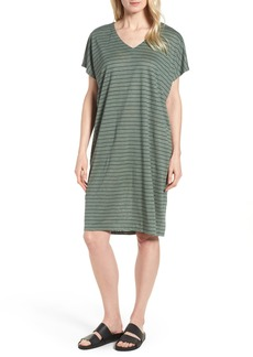 Eileen Fisher Stripe Organic Linen Shift Dress