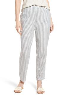 Eileen Fisher Stripe Tapered Hemp Blend Ankle Pants (Regular & Petite)