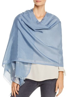 Eileen Fisher Striped Border Wrap