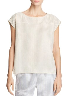 Eileen Fisher Striped Cap-Sleeve Top