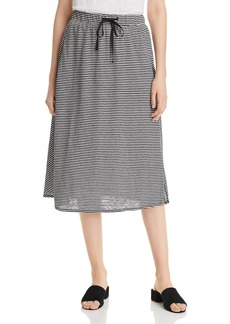 Eileen Fisher Striped Drawstring Midi Skirt