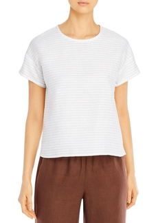 Eileen Fisher Striped Drop-Sleeve Top
