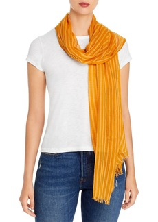 Eileen Fisher Striped Fringed Scarf