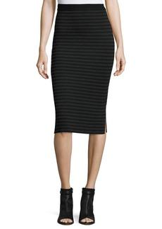 Eileen Fisher Striped Knit Pencil Skirt
