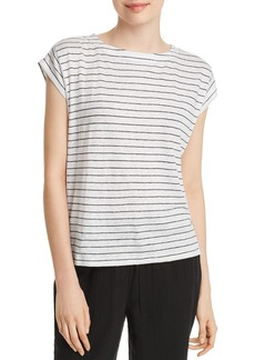 Eileen Fisher Striped Organic Cotton Tee