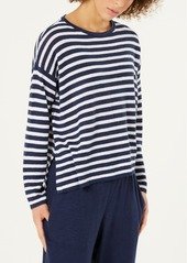 Eileen Fisher Striped Organic Linen Sweater