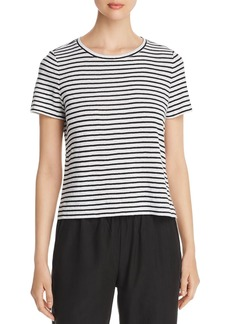Eileen Fisher Striped Organic Linen Tee