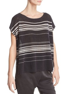 Eileen Fisher Striped Poncho-Style Top