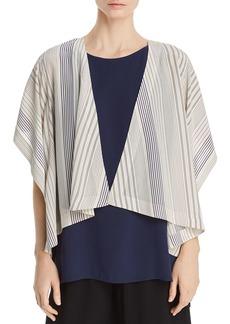 Eileen Fisher Striped Silk Kimono Jacket - 100% Exclusive