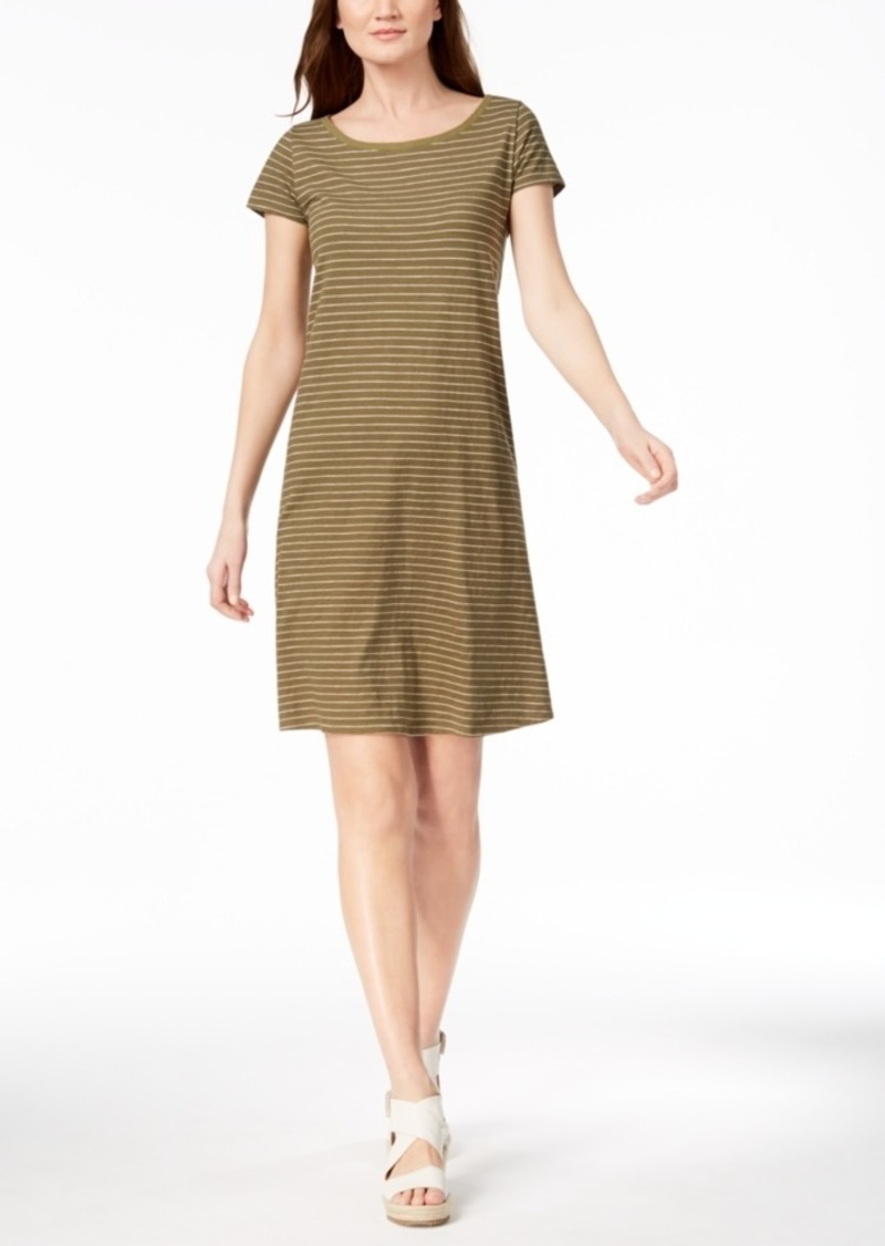 817ecf59a8 Eileen Fisher Eileen Fisher Organic Cotton Striped T-Shirt Dress ...