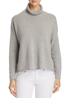 Eileen Fisher Striped Turtleneck Sweater - 100% Exclusive