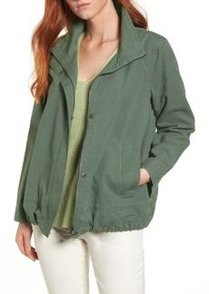 Eileen Fisher Sueded Organic Cotton & Hemp Jacket (Regular & Petite)