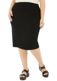 Eileen Fisher System Plus Size High-Waist Pencil Skirt