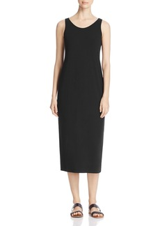 Eileen Fisher System Scoop Neck Midi Tank Dress, Regular & Petite