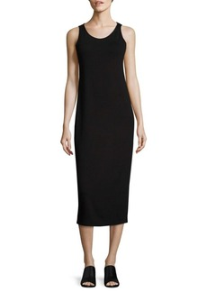 Eileen Fisher System Scoopneck Jersey Midi Dress