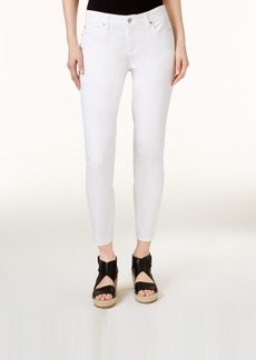 Eileen Fisher System Slim-Fit White Wash Ankle Jeans