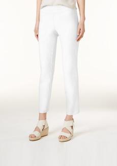 Eileen Fisher System Washable Crepe Slim-Leg Ankle Pants, Regular & Petite