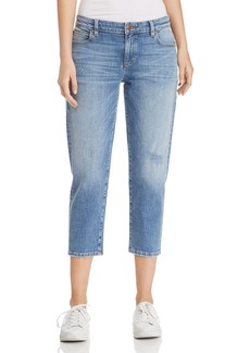 Eileen Fisher Tapered Crop Jeans in Abraided Sky Blue