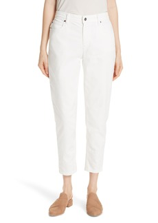 Eileen Fisher Tapered Crop Jeans (Ivory) (Regular & Petite)