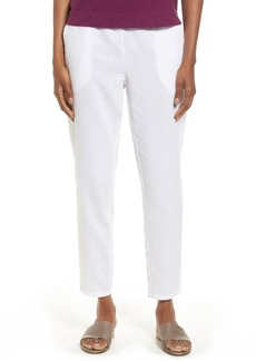 Eileen Fisher Tapered Organic Cotton Ankle Pants (Regular & Petite)