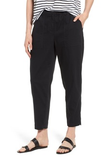 Eileen Fisher Tapered Organic Cotton Crop Pants (Regular & Petite)