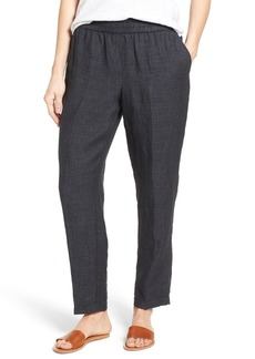 Eileen Fisher Tapered Organic Linen Tapered Pants (Regular & Petite)