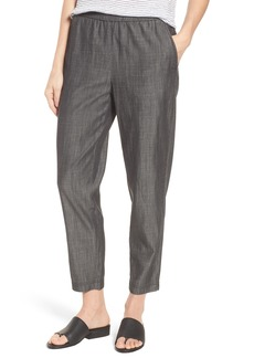 Eileen Fisher Tapered Tencel® Lyocell Blend Ankle Pants