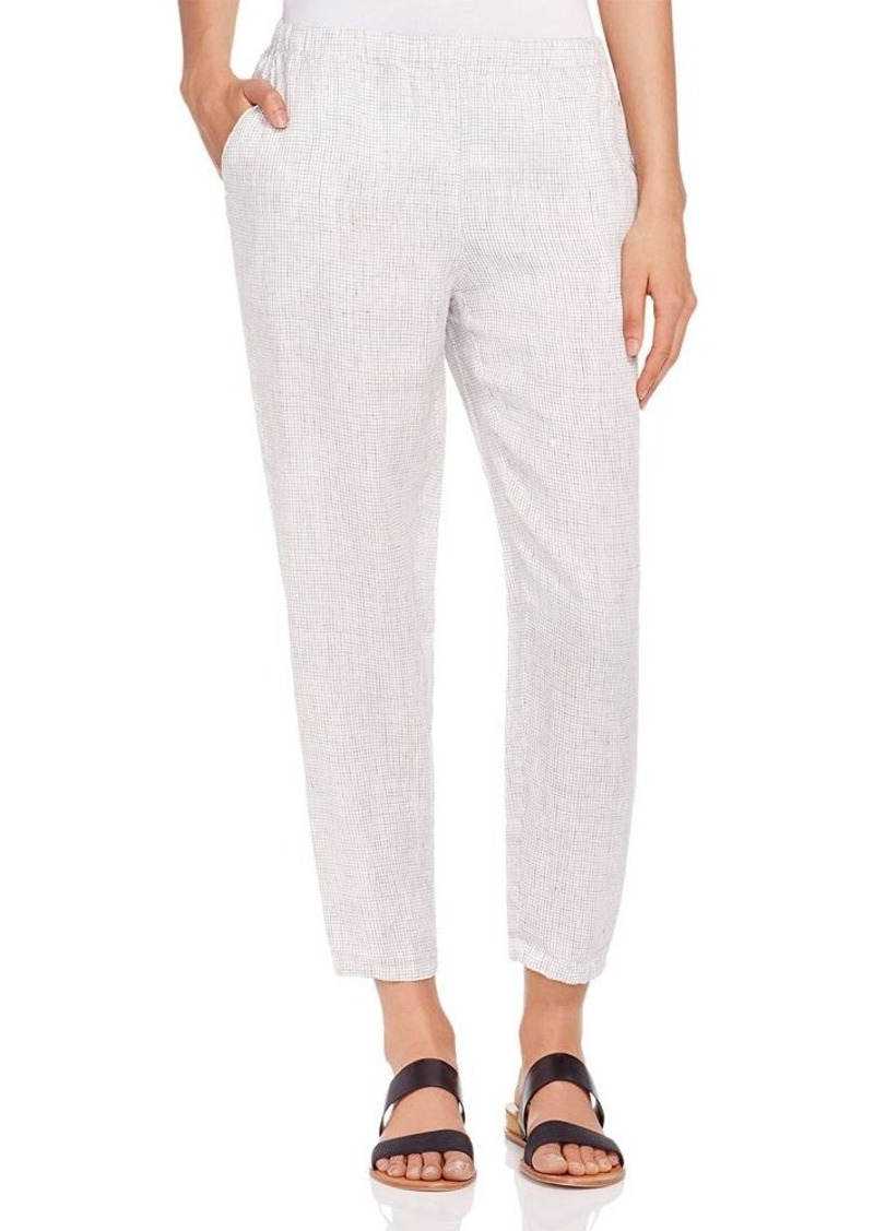 Eileen Fisher Tattersall Tapered Ankle Pants