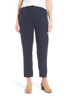 Eileen Fisher Tencel® & Linen Crop Pants (Regular & Petite)