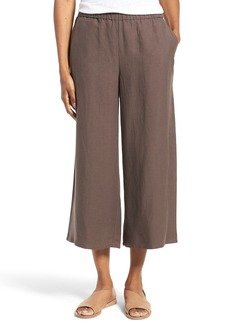 Eileen Fisher Tencel® & Linen Crop Wide Leg Pants