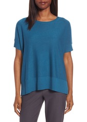 Eileen Fisher Tencel® & Merino Wool Top (Regular & Petite)